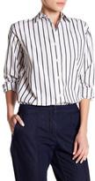 Lands' End Canvas Striped Boyfriend Shirt