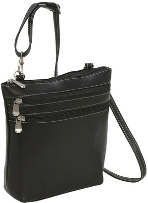 Le Donne Leather 3-Zip Crossbody Shoulder Bag