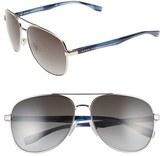 BOSS Men's '0700/s' 60Mm Aviator Sunglasses - Light Gold Havana