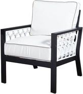 Koverton Parkview Cast Club Chair, Black/White