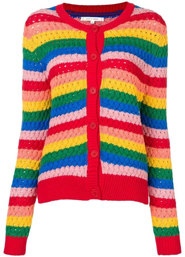 Parker Chinti & crochet-knitted cardigan