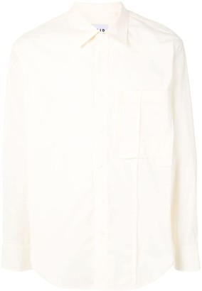 Solid Homme Cotton Patch Pocket Shirt