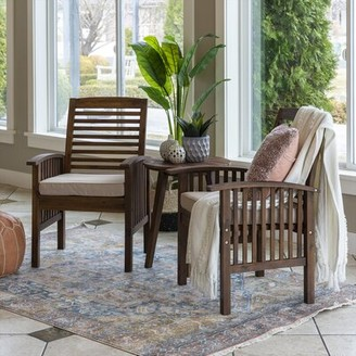 Walker Edison 3 Piece Seating Group with Cushions