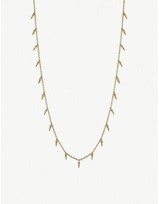 Sydney Evan The Alkemistry 14ct yellow gold and diamond fringe necklace