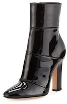 Gianvito Rossi Patent Leather 105mm Ankle Boot, Black