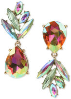Betsey Johnson Gold-Tone Clear & Colored Crystal Pineapple Mismatch Drop Earrings