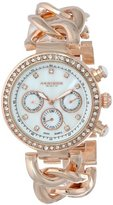 Akribos XXIV Women's AK640RG Lady Diamond Rose Gold-Tone Bracelet Watch