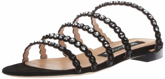 Sergio Rossi Women's Kimberly Slide Sandal Black 38 Medium EU (36 6 US)