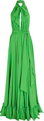 Dundas Pleated Halter Silk Gown