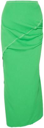 Marni Gathered Crepe Maxi Pencil Skirt