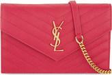 Saint Laurent Monogram quilted leather envelope clutch