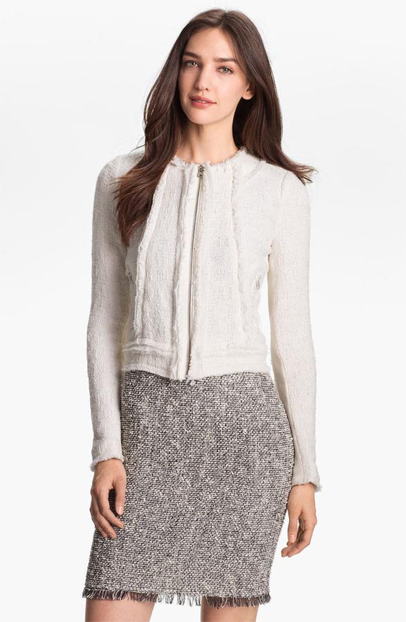 Rebecca Taylor Crop Tweed Jacket 4
