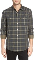 John Varvatos Trim Fit Plaid Sport Shirt