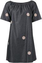 Emporio Armani polka dot shift dress - women - Cotton - 38