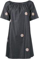 Emporio Armani polka dot shift dress - women - Cotton - 42