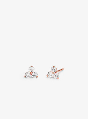 Michael Kors Precious Metal-Plated Sterling Silver Triad Studs - Rose Gold