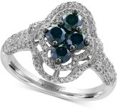 Effy Blue Diamond Ring (1-3/8 ct. t.w.) in and 14k White Gold