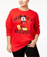 Hybrid Trendy Plus Size Mickey Mouse Graphic Sweatshirt