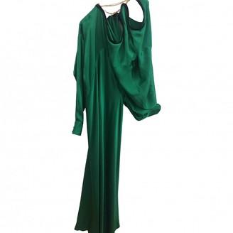 Y/Project Green Silk Dresses