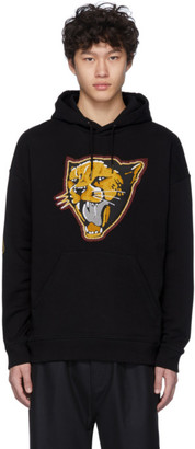 Givenchy Black Cheetah Patch Hoodie