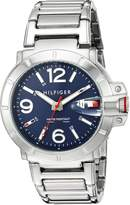 Tommy Hilfiger Men's Quartz Stainless Steel Casual Watch, Color:Silver-Toned (Model: 1791258)