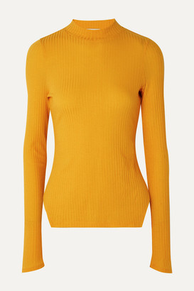 REJINA PYO Candice Ribbed Stretch-tencel Jersey Top - Marigold