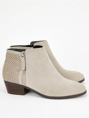 Evans Wide Fit Anderson Zip Side Western Boots - Grey