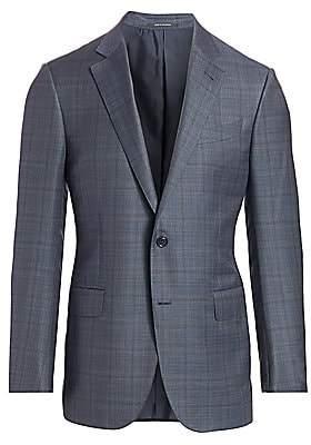 Ermenegildo Zegna Men's Plaid Wool Jacket