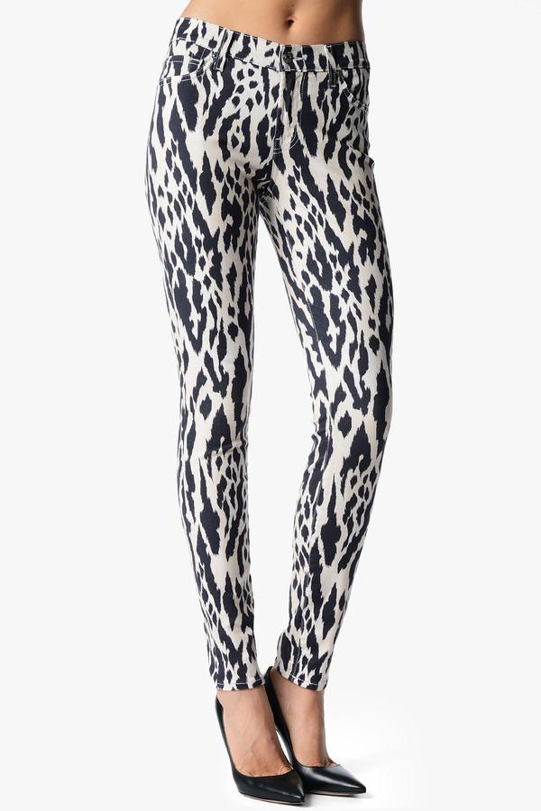 7 For All Mankind The Skinny In Ikat Leopard