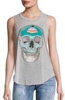 Chaser Skull Printed Sleeveless Jersey Top
