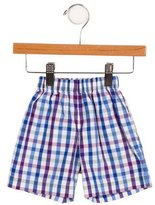 Oscar de la Renta Boys' Gingham Knee-Length Shorts