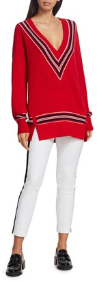 Rag & Bone Dianna Oversized Merino Wool-Blend Striped Sweater