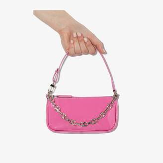 BY FAR pink Mini Rachel patent leather bag