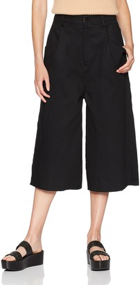 Baja East Women's Denim Wide Leg Pant