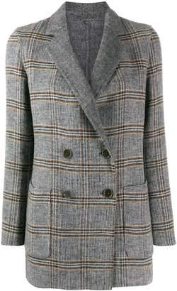 Twin-Set double check print coat