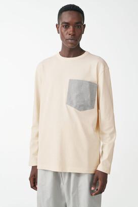 Cos Organic Cotton Top With Denim Pocket