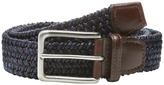 Torino Leather Co. Italian Woven Cotton and Leather Elastic Men's Belts