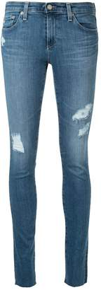 AG Jeans distressed skinny-fit jeans