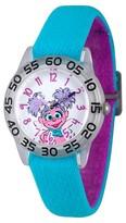 Sesame Street Girls' Clear Plastic Time Teacher Watch - Blue