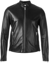 Saint Laurent leather jacket - men - Cotton/Lamb Skin/Cupro - 46