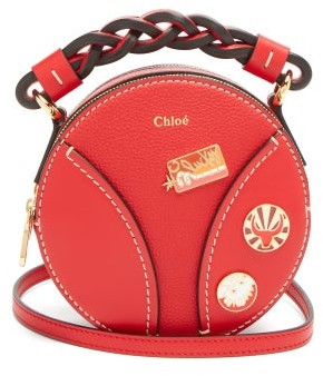 Chloé Daria Leather Cross-body Bag - Red