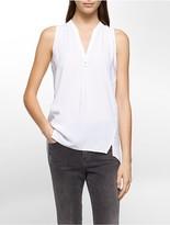 Calvin Klein Sleeveless Henley Shirt