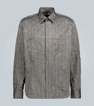 Our Legacy Crushed memory striped shirt