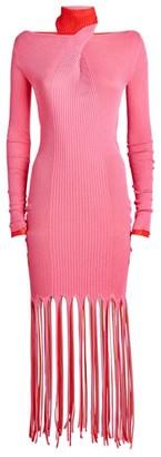 Bottega Veneta Fringed Backless Mini Dress