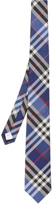 Burberry check silk jacquard tie
