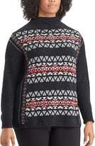 Chaps Plus Size Fairisle Mockneck Sweater