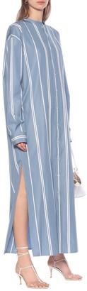 Jil Sander Striped cotton maxi shirt dress