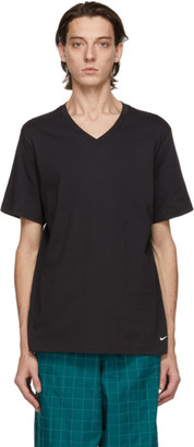 Nike Two-Pack Black Cotton Everyday V-Neck T-Shirts