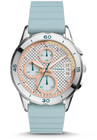 modern pursuit chronograph blue silicone watch