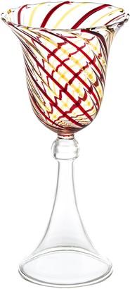 Abigails Red & Yellow Swirl Wine Glass Set of 4